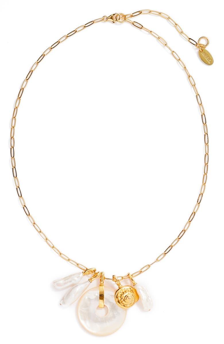 LIZZIE FORTUNATO Deep Sea Charm Necklace, Main, color, 710