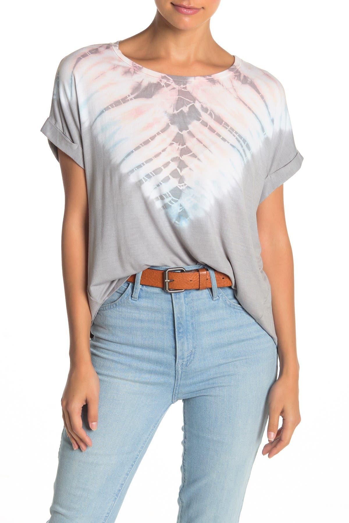 Image of GOOD LUCK GEM Tie Dye Boxy T-Shirt