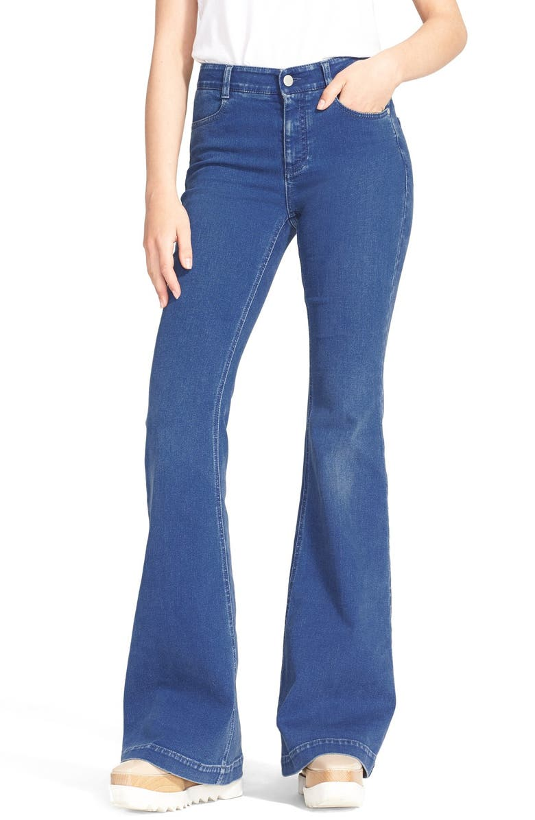 STELLA MCCARTNEY 'The '70s' Flare Jeans, Main, color, 464