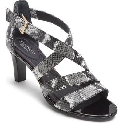 Rockport Total Motion Edith Strappy Sandal, Grey