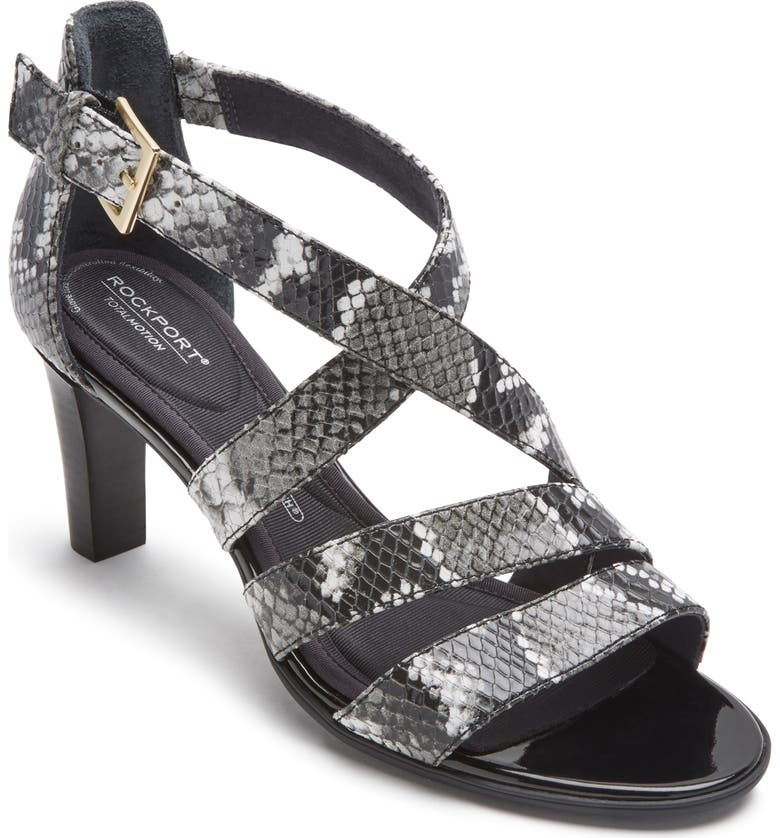 ROCKPORT Total Motion Edith Strappy Sandal, Main, color, SNAKE PRINT LEATHER