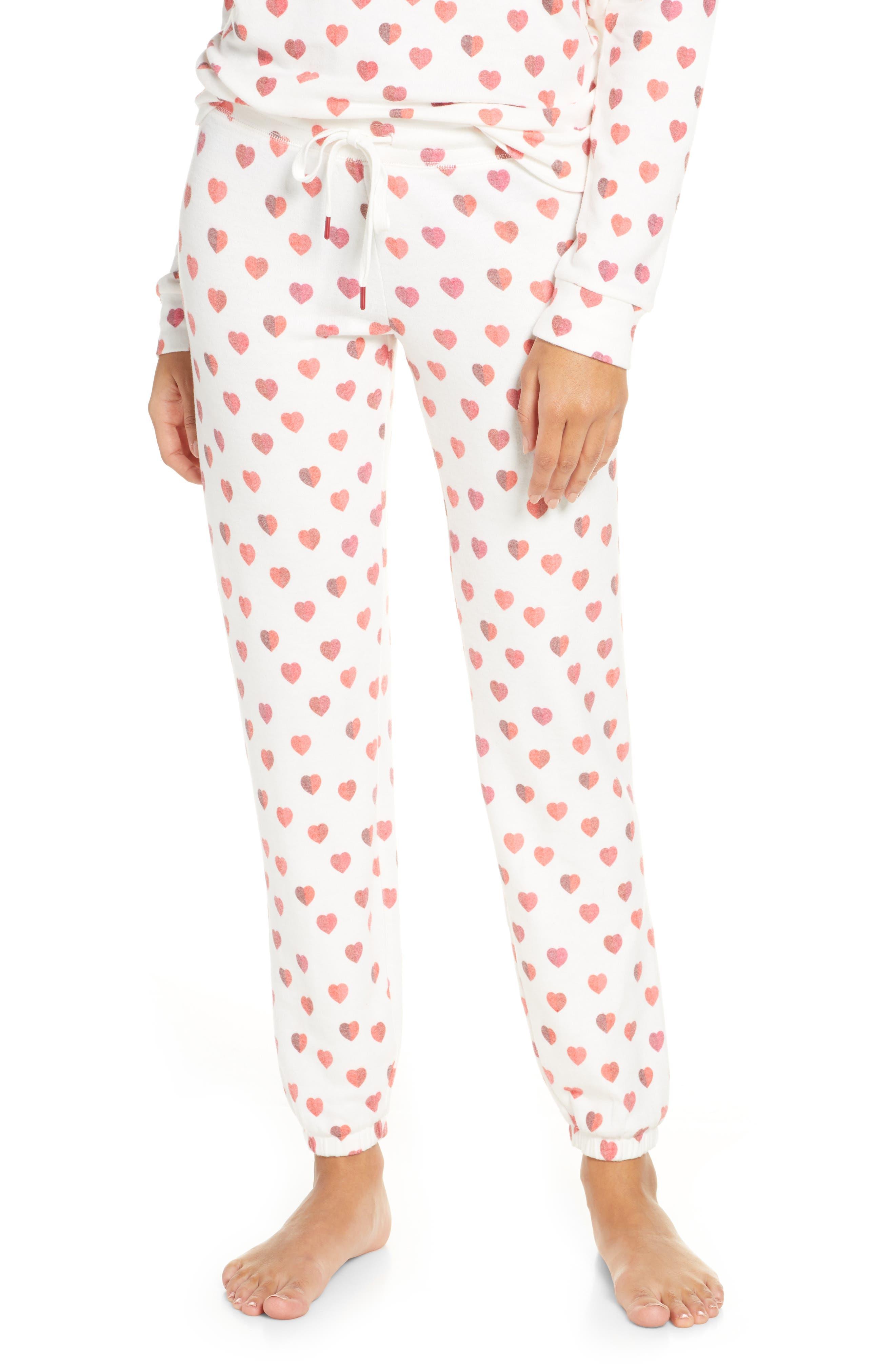 PJ Salvage Heart Print Jogger Pajama Pants