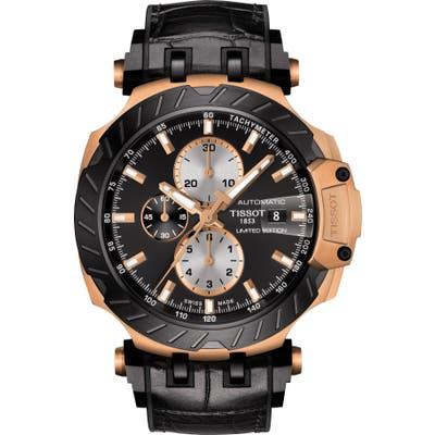 Tissot T-Race Motogp Leather Strap Automatic Watch, 4m