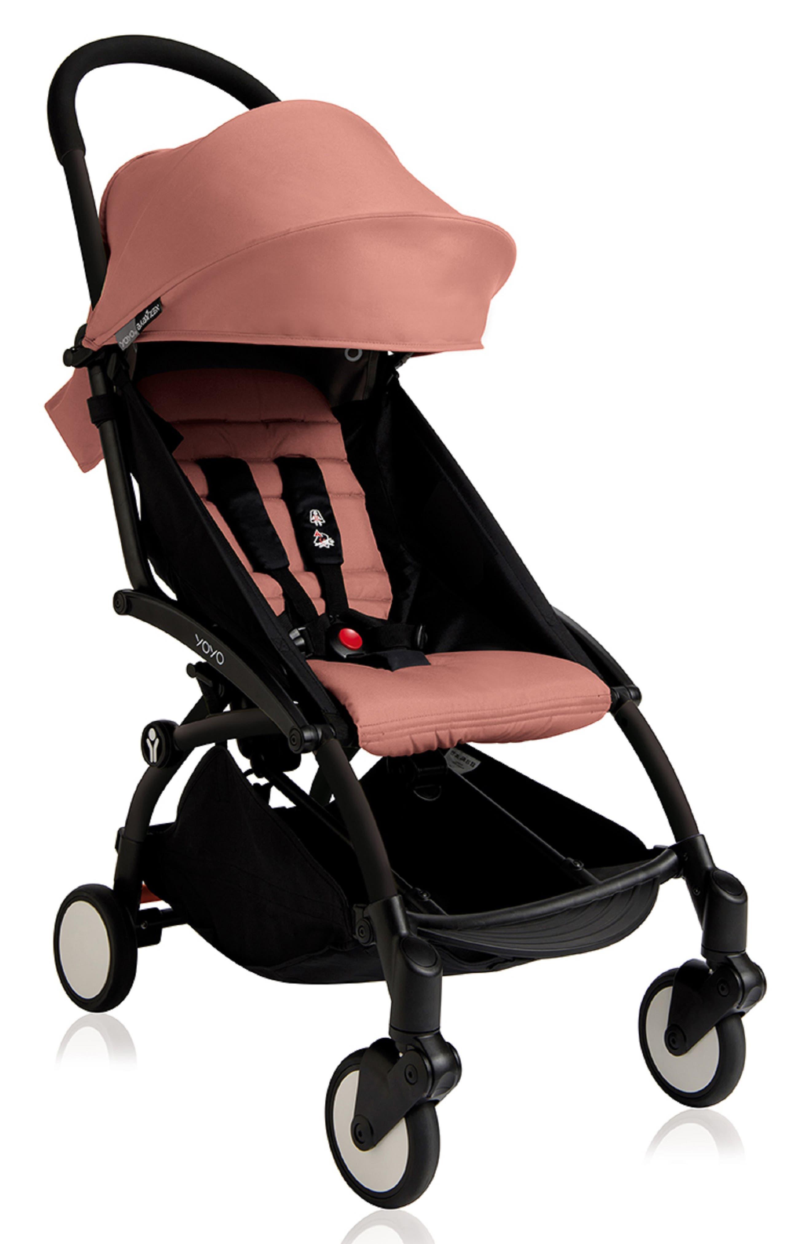 Infant Babyzen(TM) Yoyo Complete Stroller With Travel Bag Black Parasol  New Leg Rest Size One Size  Pink