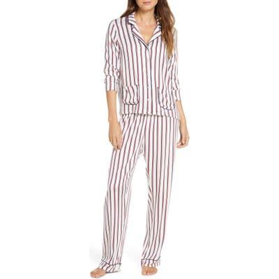 Splendid Woven Long Pajamas, White
