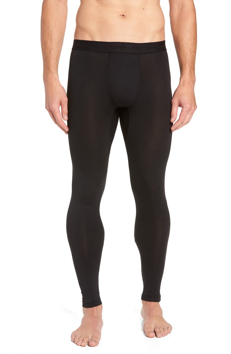TOMMY JOHN SleekHeat<sup>™</sup> Long John Bottoms, Main, color, BLACK