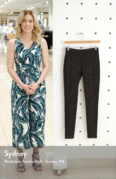 Leopard Print Pull-On Skinny Pants, sales video thumbnail