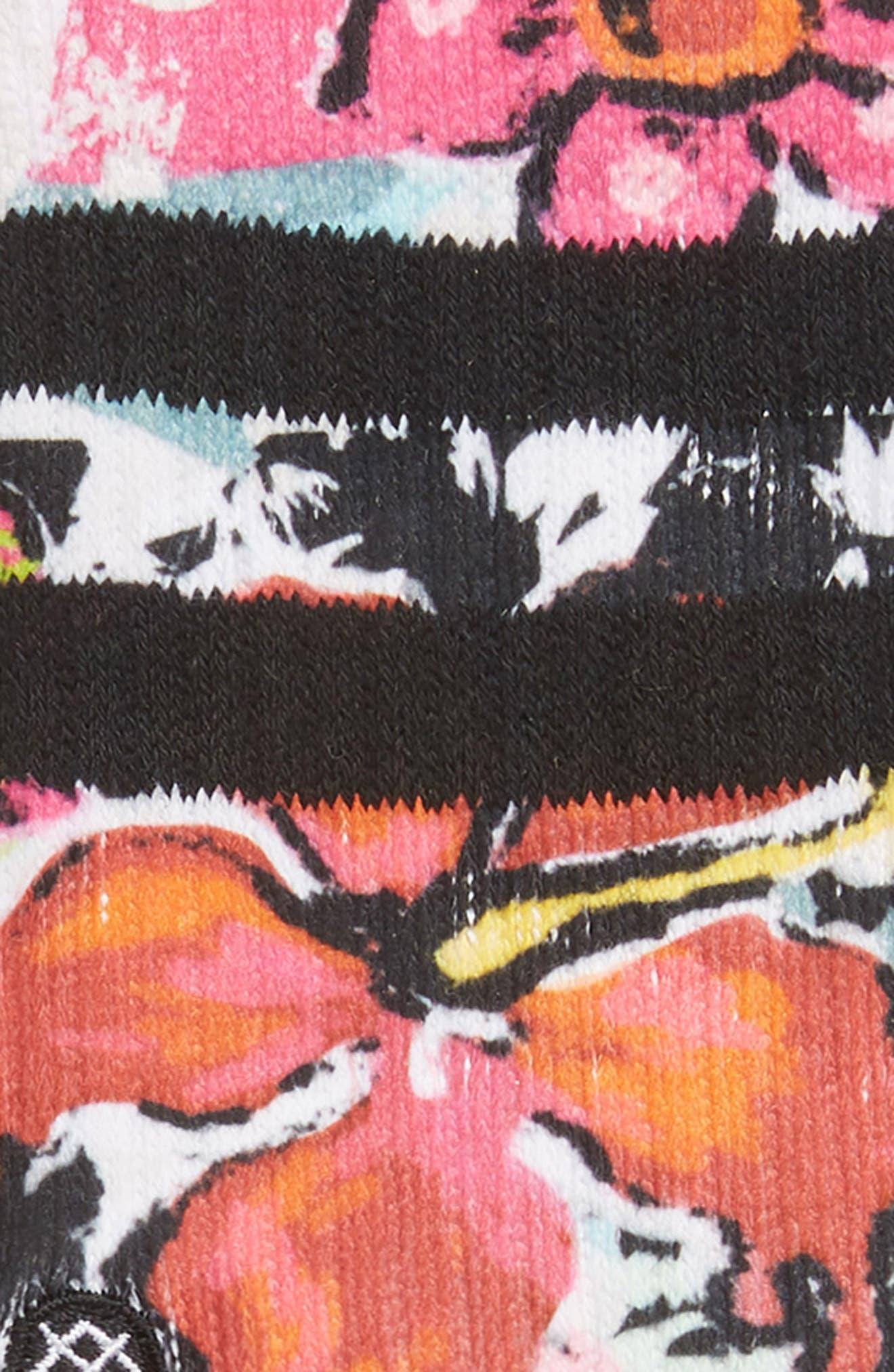 ,                             Spot Floral Crew Socks,                             Alternate thumbnail 2, color,                             BLACK CAMO