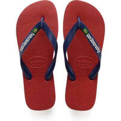 Havaianas Brazil Flip Flop, /10- Red