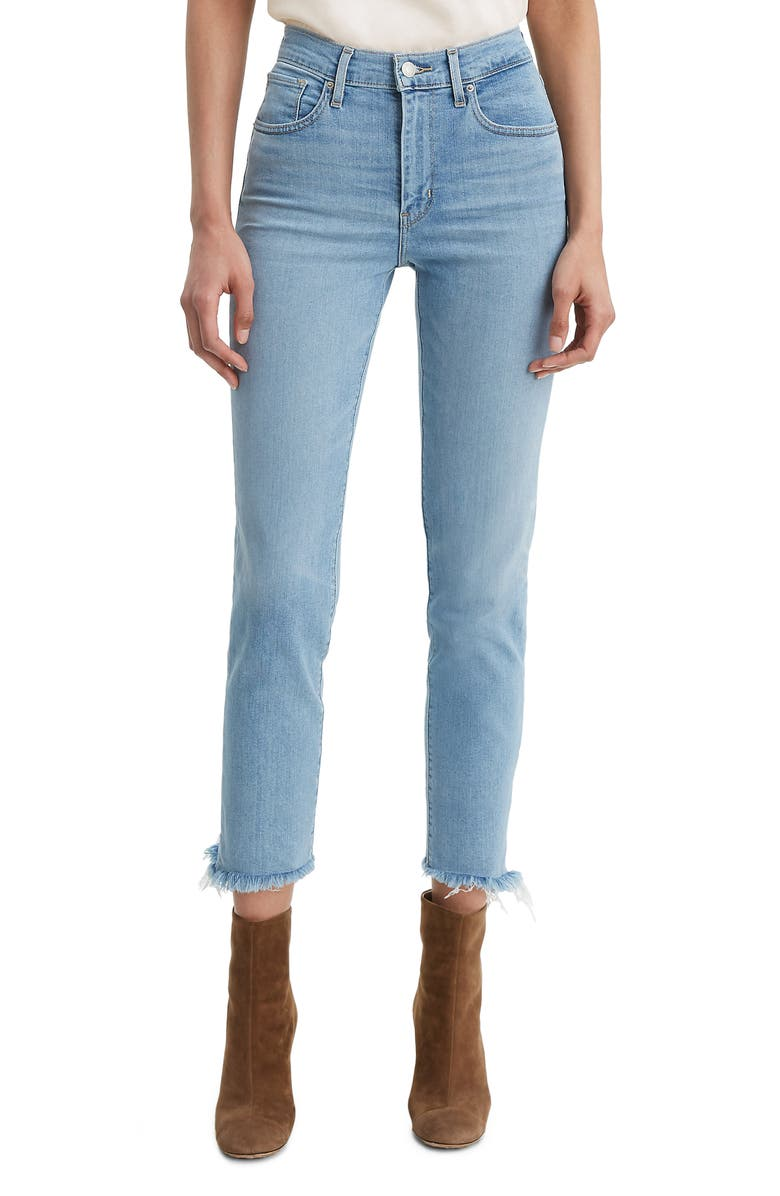 724™ High Waist Fray Crop Straight Leg Jeans by Levi's®