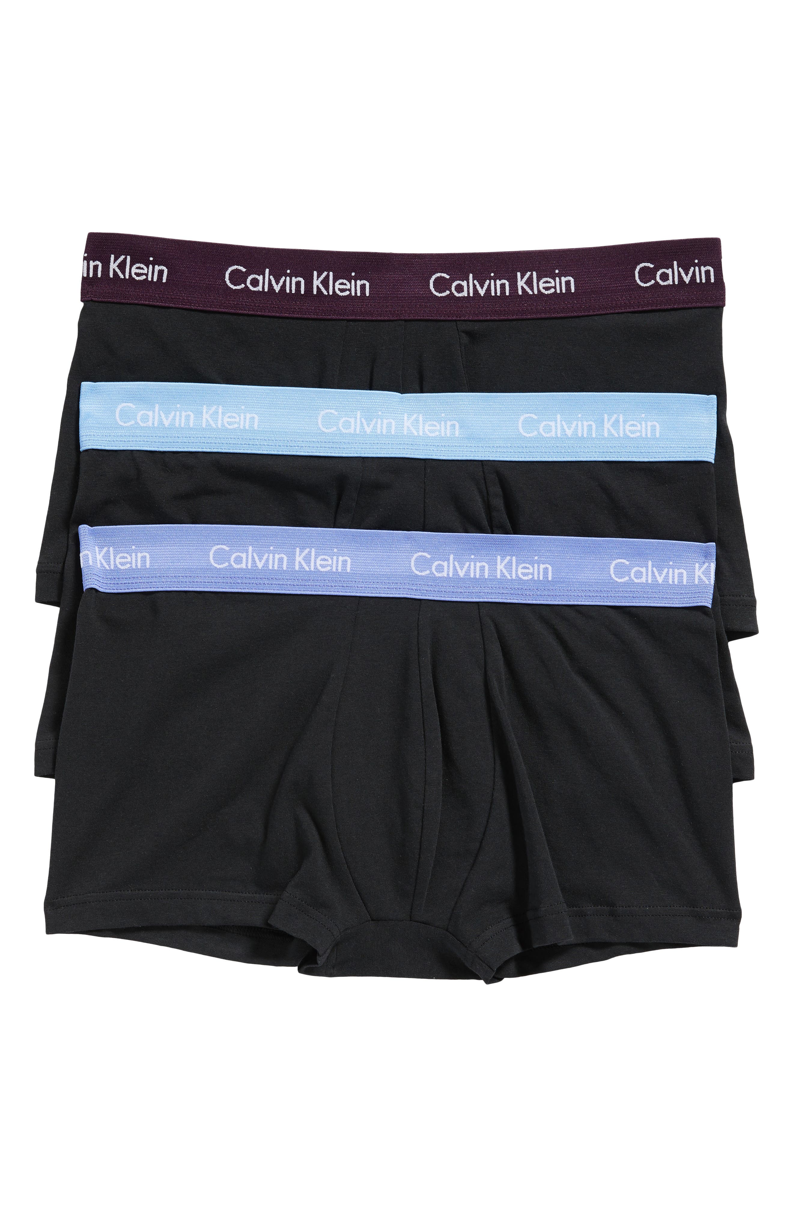 ,                             3-Pack Stretch Cotton Low Rise Trunks,                             Main thumbnail 55, color,                             015