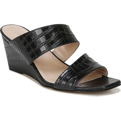 27 Edit Vennice Wedge Slide Sandal- Black