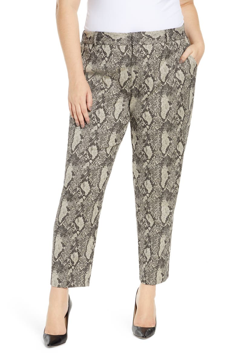 RACHEL ROY COLLECTION Tapered Trousers, Main, color, GREY COMBO