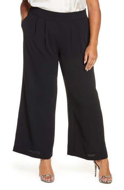1.state Pants BASKET WEAVE CREPE WIDE LEG PANTS