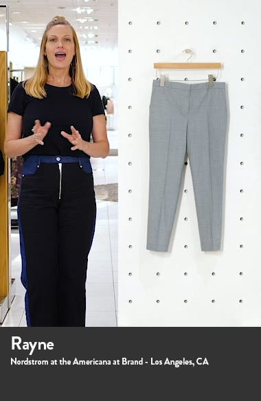Treeca 4 Wool Blend Crop Trousers, sales video thumbnail