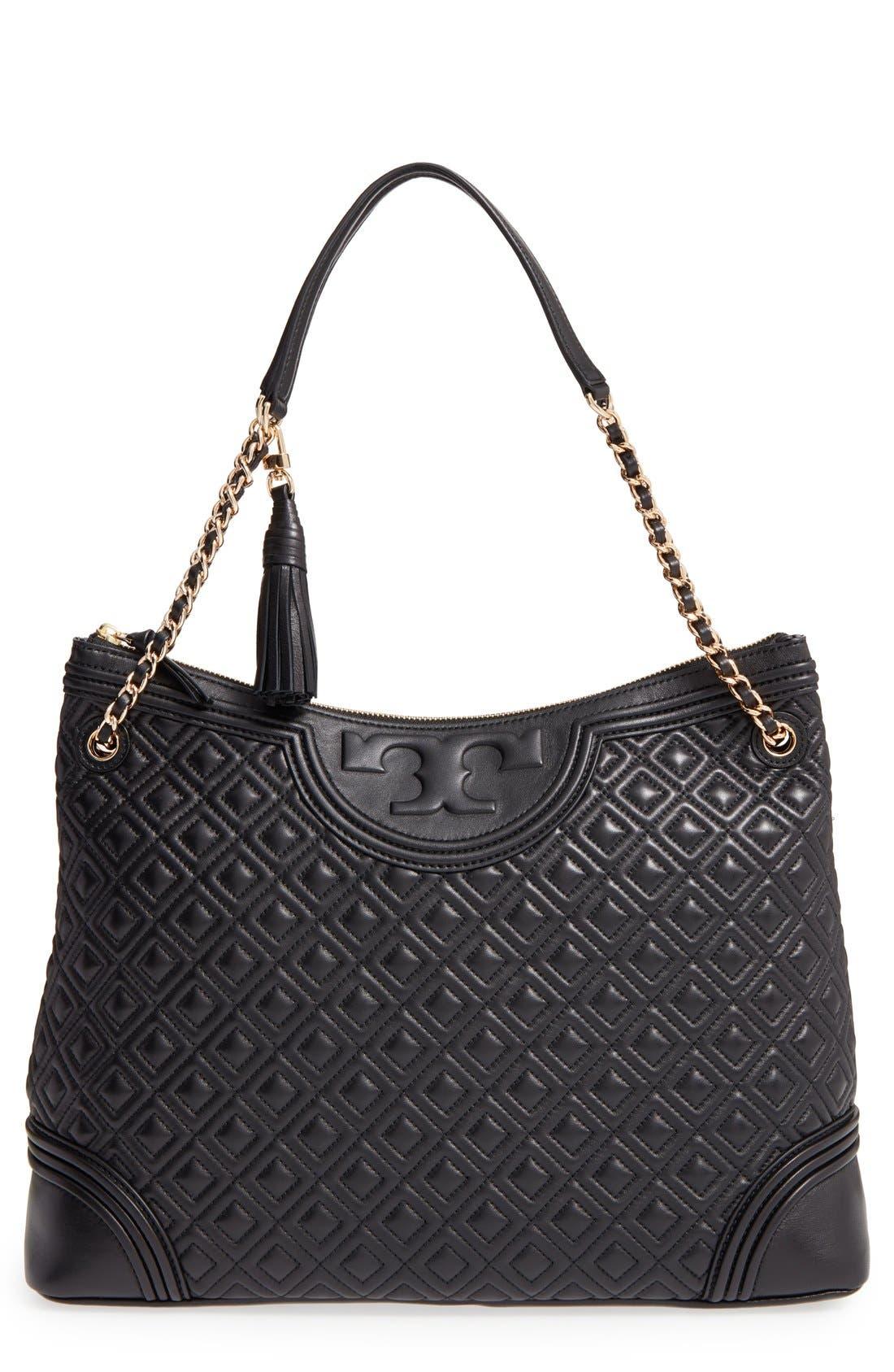 'Fleming' Leather Shoulder Bag, Main, color, 012