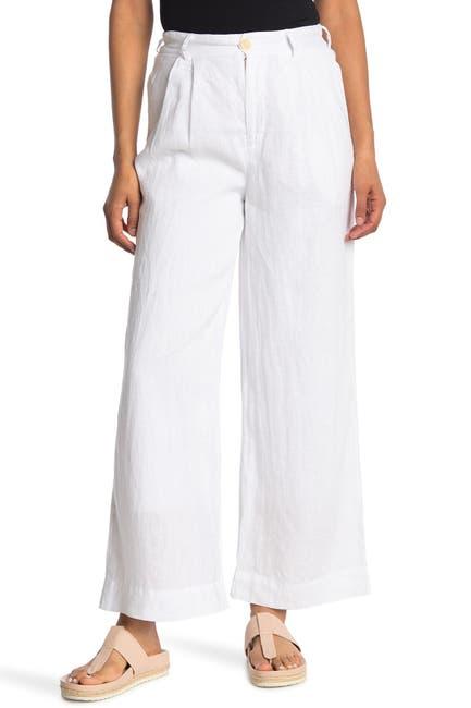 Image of Stateside Linen Tailored Wide Leg Pants