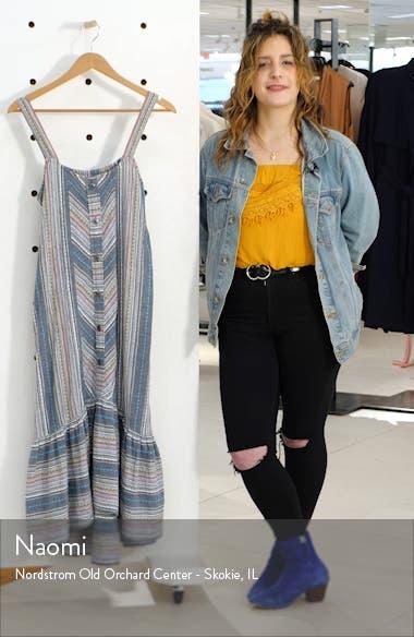 Stripe High/Low Cotton Maxi Dress, sales video thumbnail