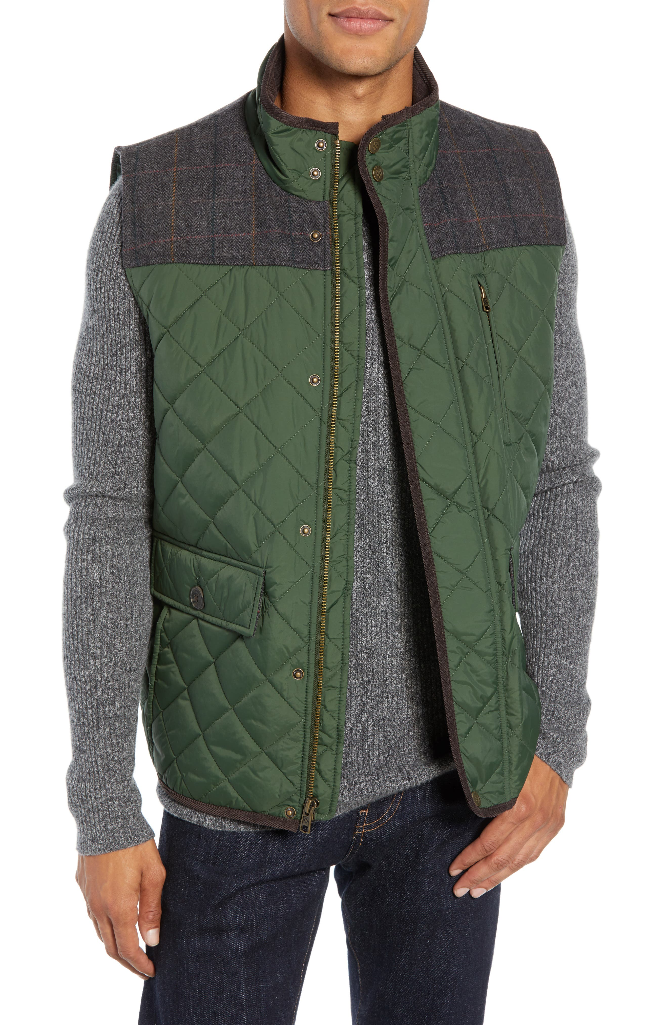 Vince Camuto Quilted Vest, Green