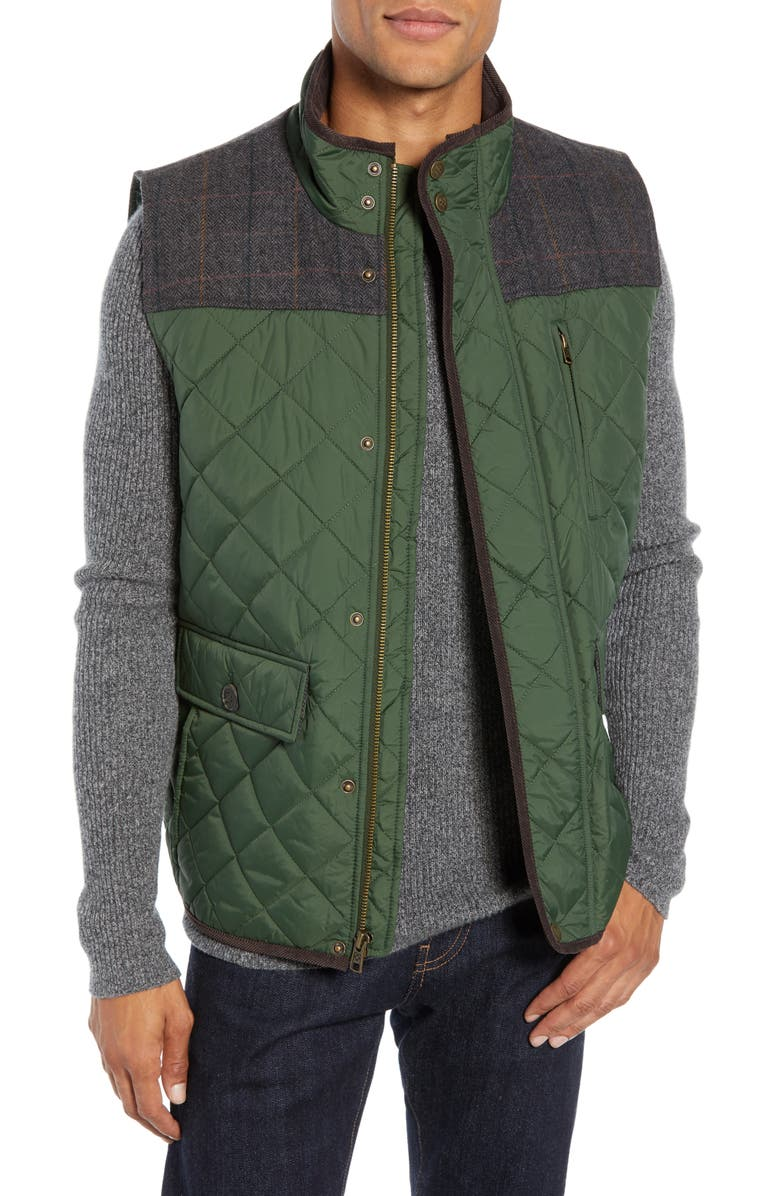 VINCE CAMUTO Quilted Vest, Main, color, OLIVE
