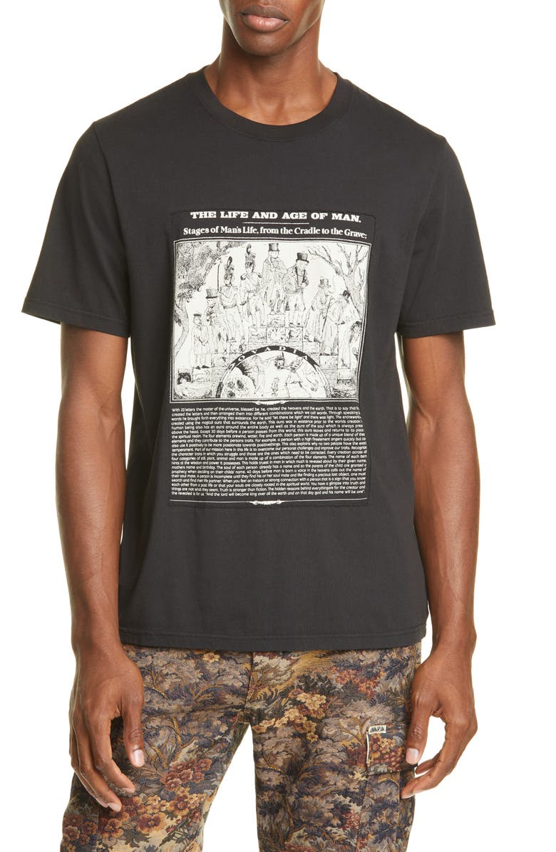 OVADIA & SONS Age of Man Graphic T-Shirt, Main, color, BLACK