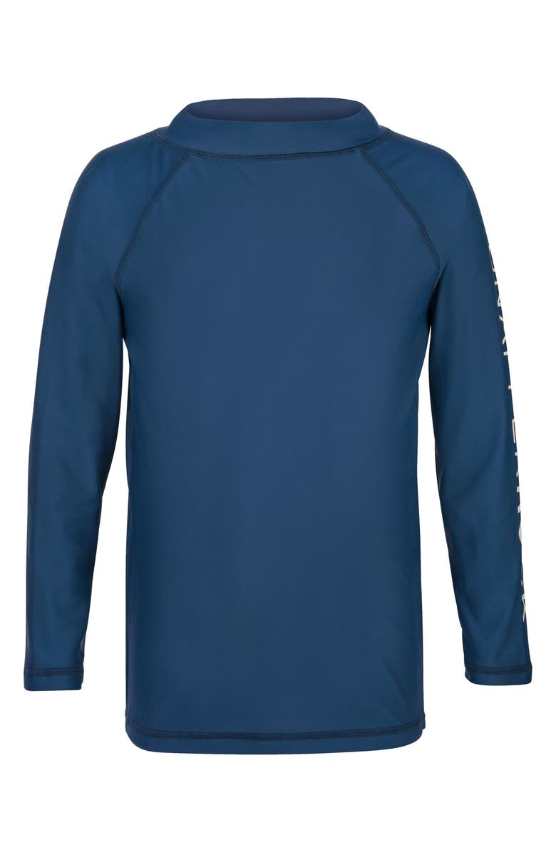 SNAPPER ROCK Raglan Long Sleeve Rashguard, Main, color, DENIM