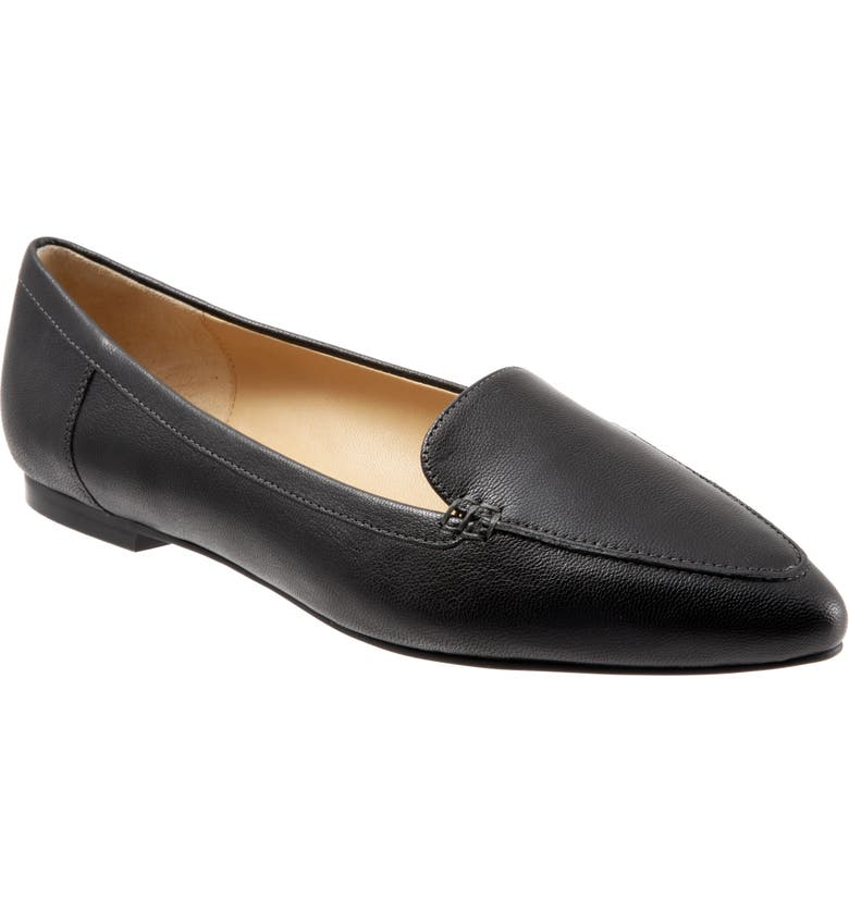 TROTTERS Ember Flat, Main, color, BLACK LEATHER