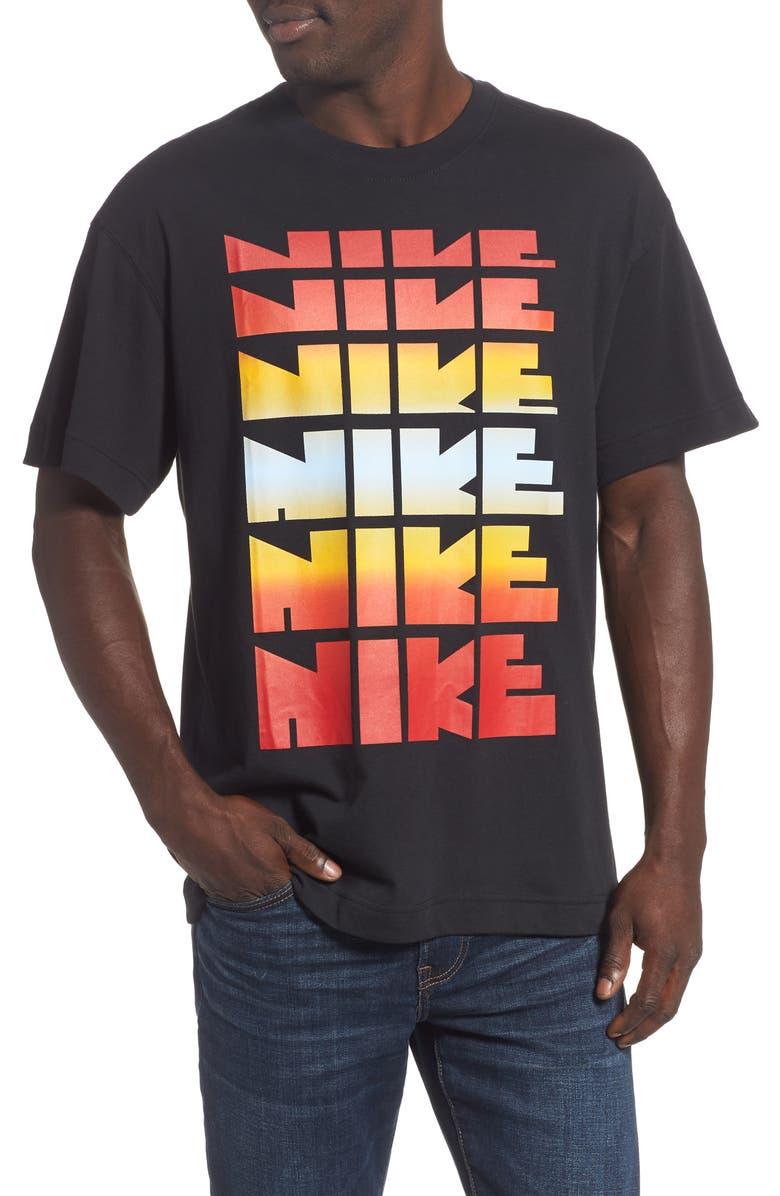 NIKE Classics 2 Graphic T-Shirt, Main, color, BLACK