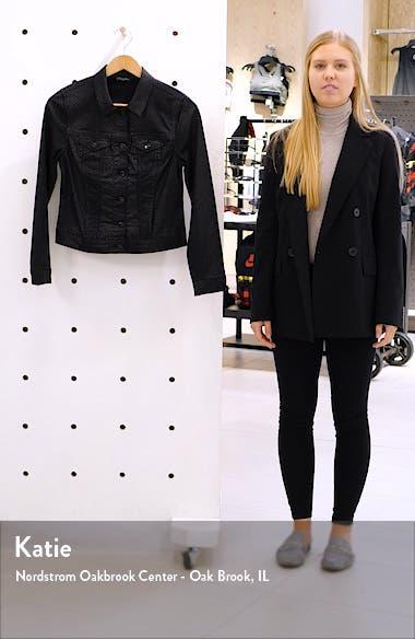 Samantha Snakeskin Print Denim Jacket, sales video thumbnail