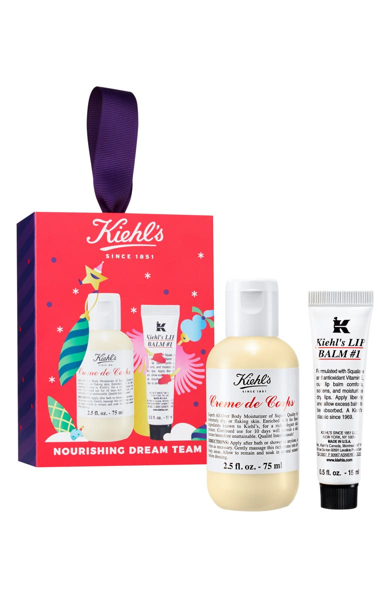 KIEHL'S SINCE 1851 Nourishing Dream Team Crème de Corps & Lip Balm Set, Main, color, NO COLOR