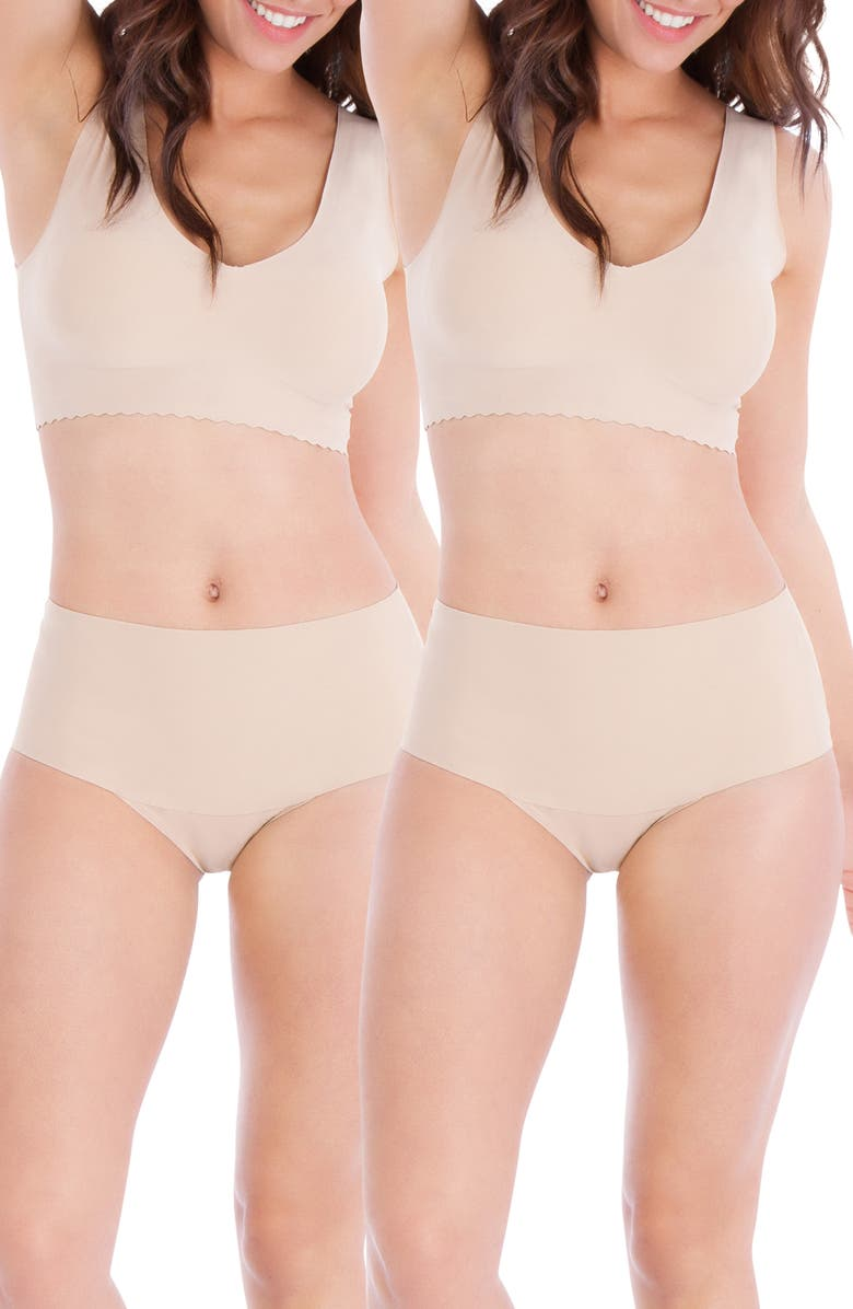 BELLY BANDIT<SUP>®</SUP> Mother Tucker<sup>®</sup> 2-Pack Smoothing Panties, Main, color, NUDE