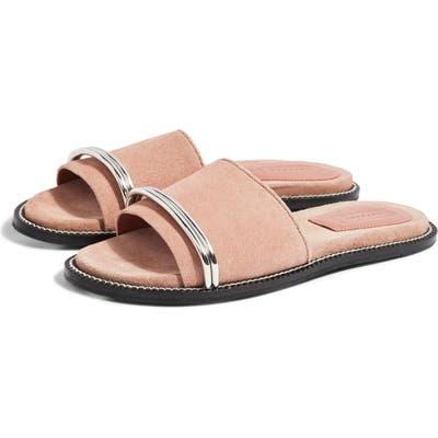 Topshop Flash Bar Slide Sandal - Beige
