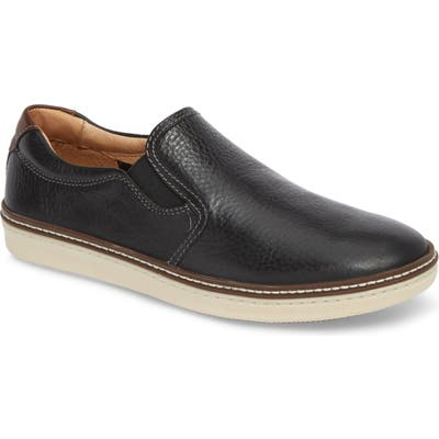 Johnston & Murphy Mcguffey Slip-On Sneaker- Black