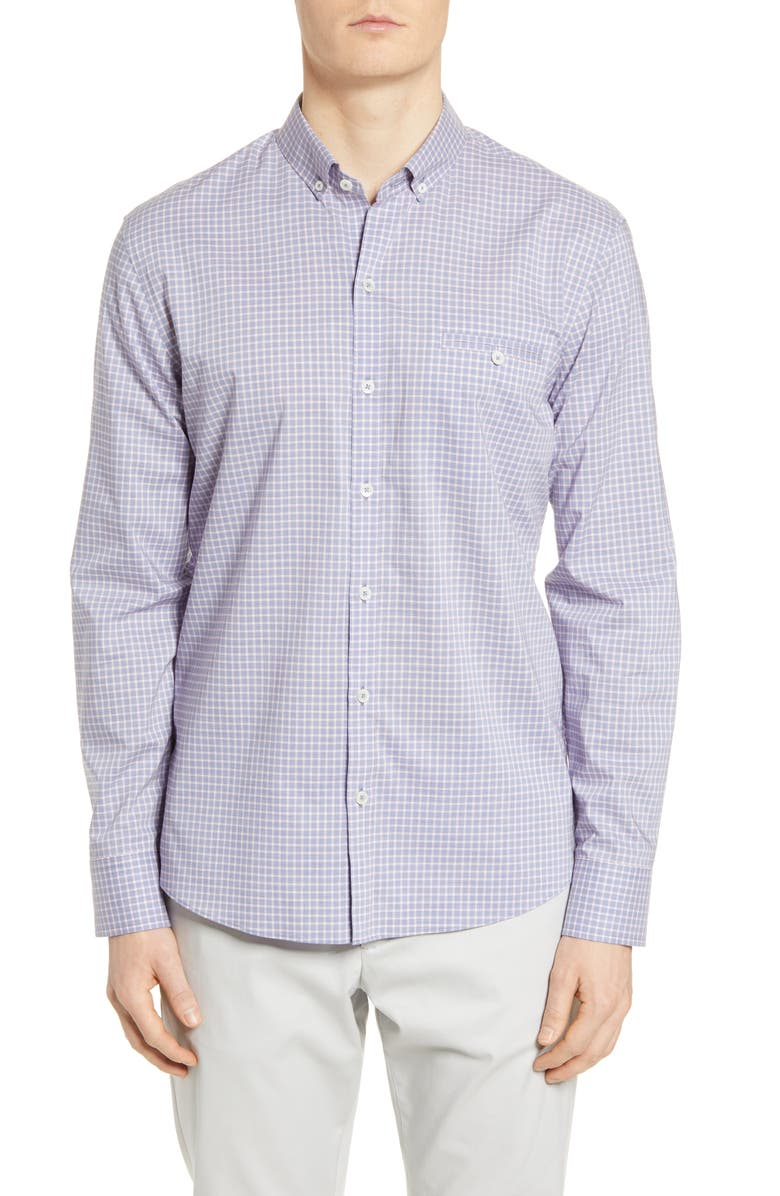 ZACHARY PRELL Classic Fit Check Button-Down Shirt, Main, color, BLUE