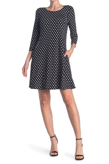 Image of TASH + SOPHIE 3/4 Sleeve Scoop Dress