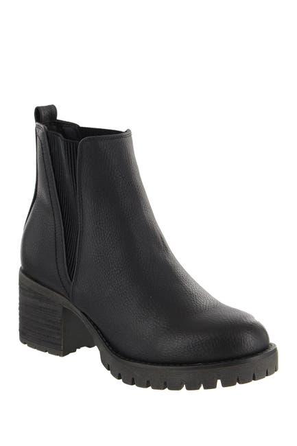 Image of MIA Jody Ribbed Block Heel Chelsea Boot