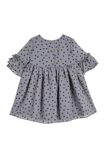 Image of Laura Ashley Velvet Dot Chiffon Dress