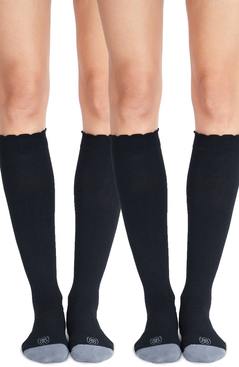 BELLY BANDIT<SUP>®</SUP> Belly Bandit 2-Pack Compression Socks, Main, color, BLACK