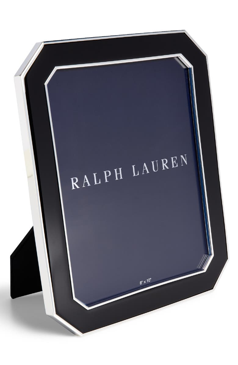 RALPH LAUREN Becker Picture Frame, Main, color, BLACK