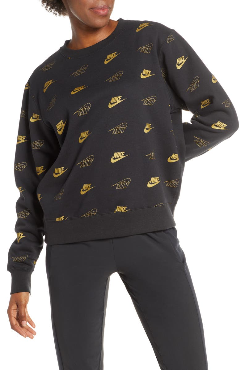 NIKE w Sportswear Graphic Sweatshirt, Main, color, 001