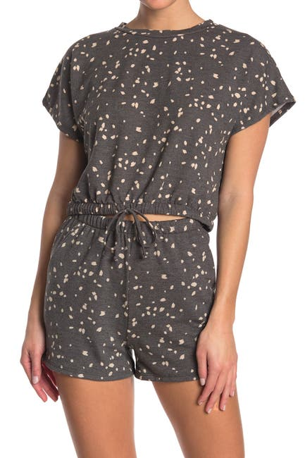 Image of Lush Speckled Print Crop T-Shirt