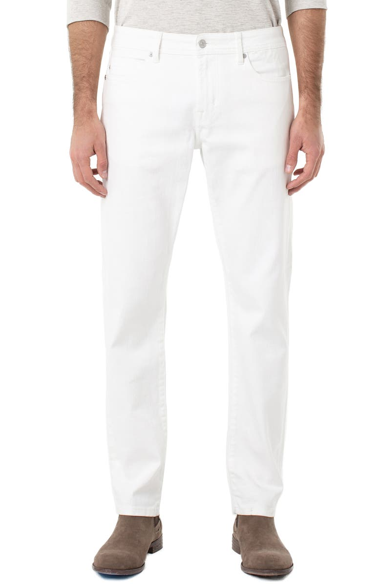 LIVERPOOL Kingston Slim Straight Leg Jeans, Main, color, BRIGHT WHITE