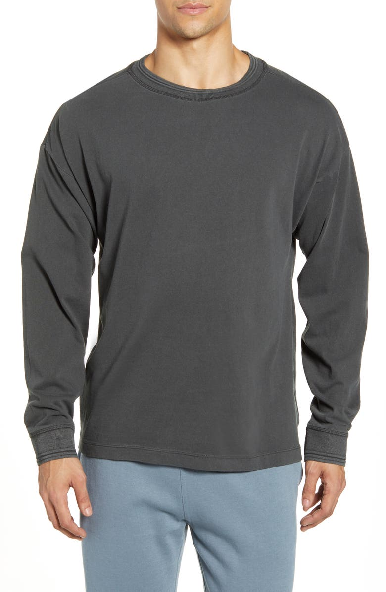 RICHER POORER Relaxed Cotton Crewneck Sweater, Main, color, STRETCH LIMO