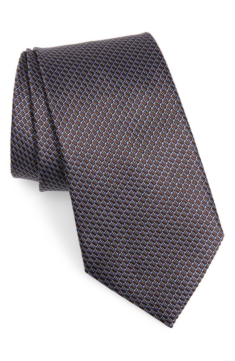 ERMENEGILDO ZEGNA Geometric Silk Tie, Main, color, 409