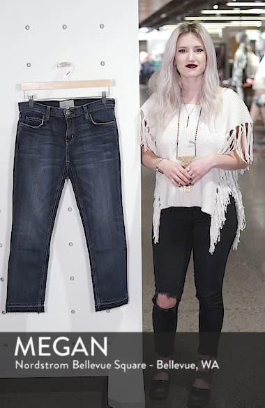 The Cropped Straight Released Hem Jeans, sales video thumbnail