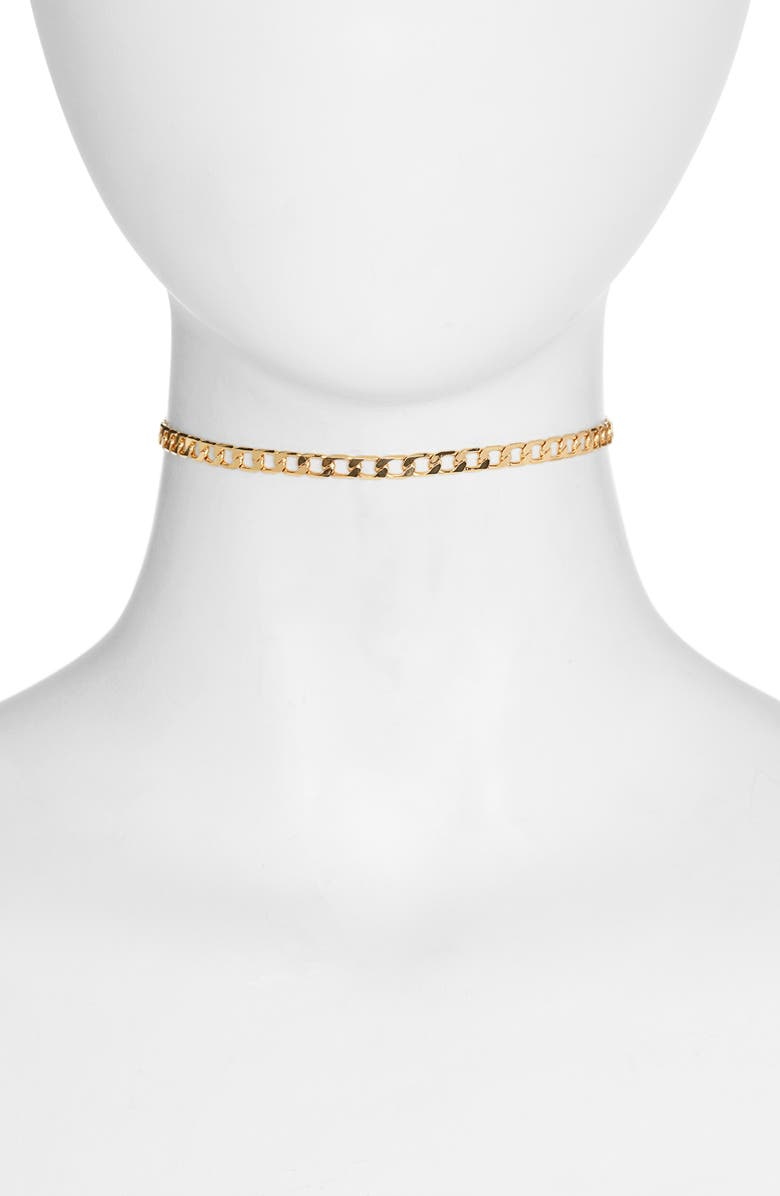JENNY BIRD Walter Chain Choker Necklace, Main, color, GOLD