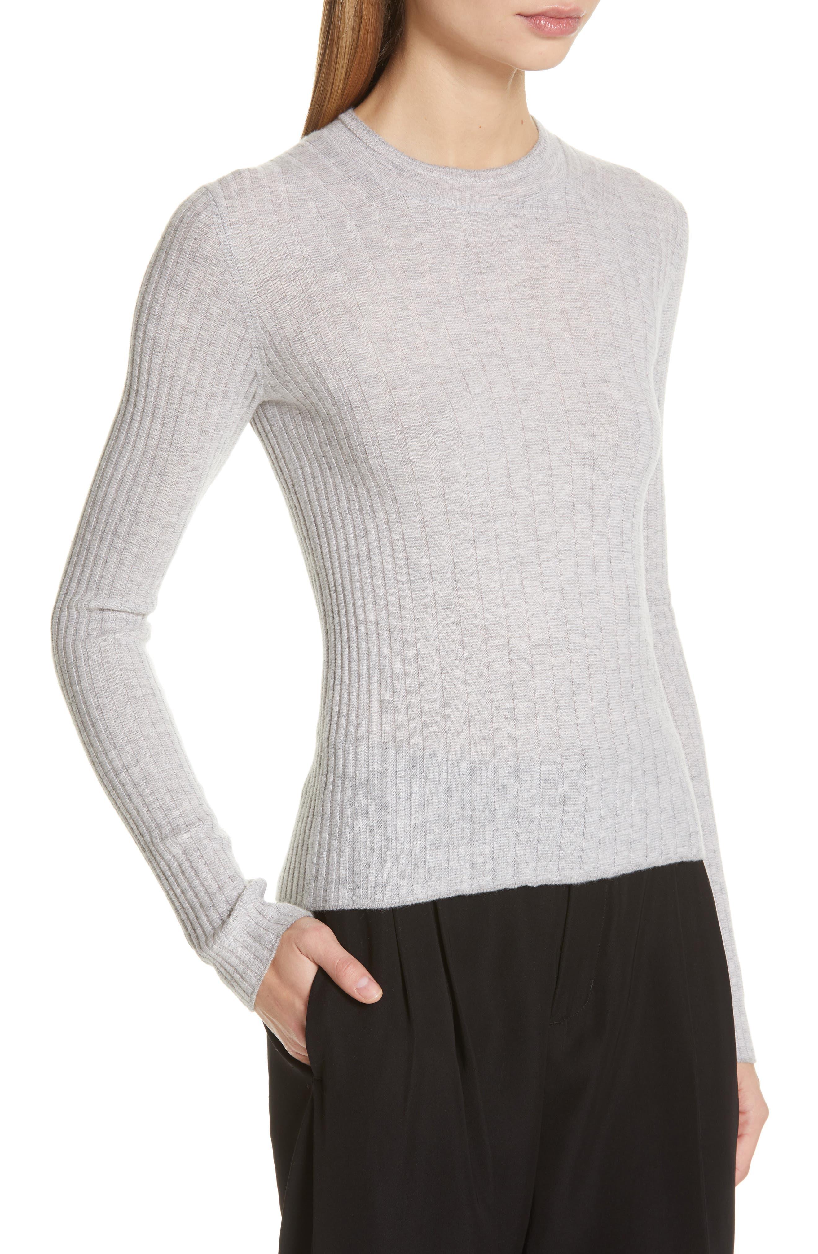 ,                             Mixed Rib Stitch Sweater,                             Alternate thumbnail 4, color,                             020