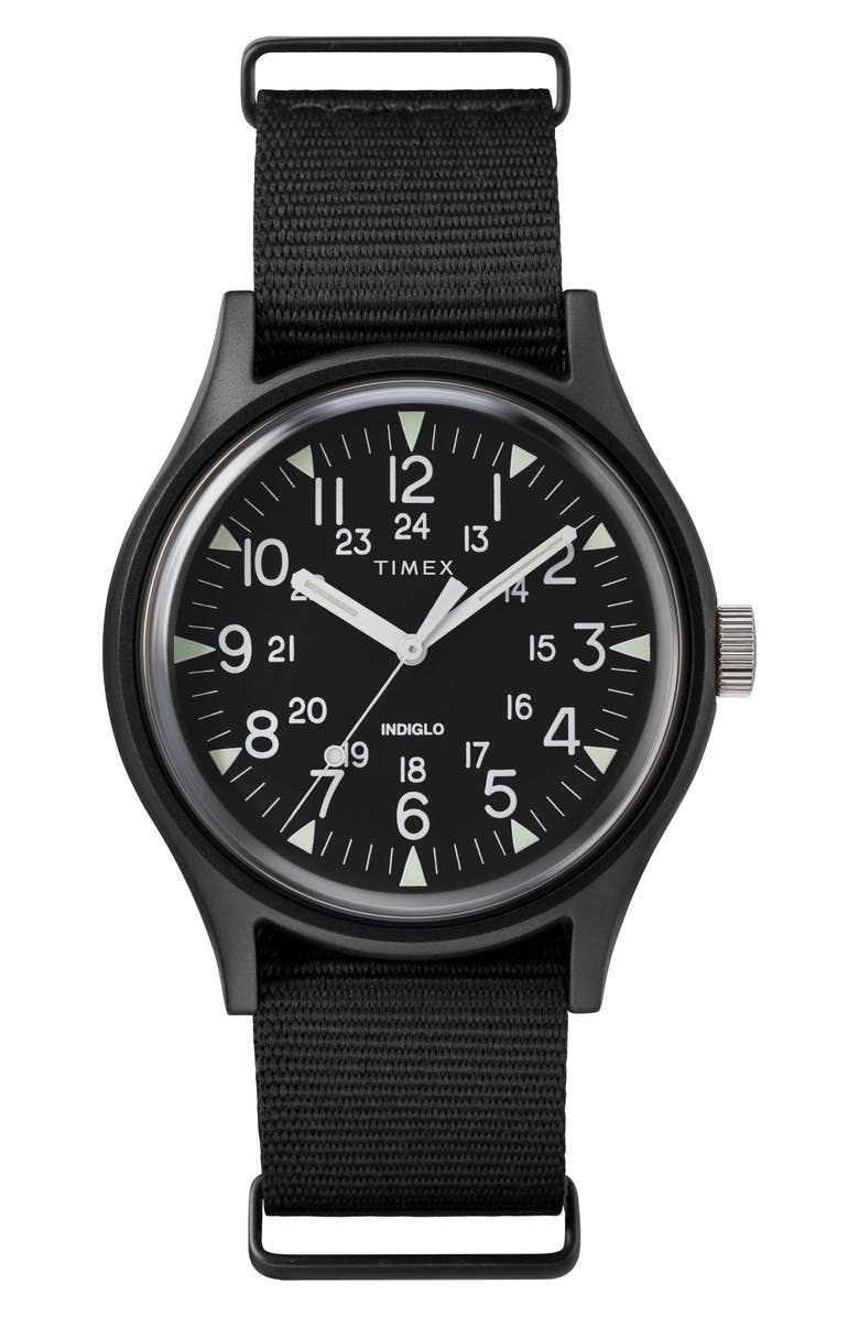TIMEX<SUP>®</SUP> Timex MK1 Nylon Strap Watch, 40mm, Main, color, 005