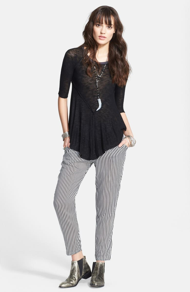FREE PEOPLE 'Weekends' Lightweight Raw Edge Top, Main, color, 001