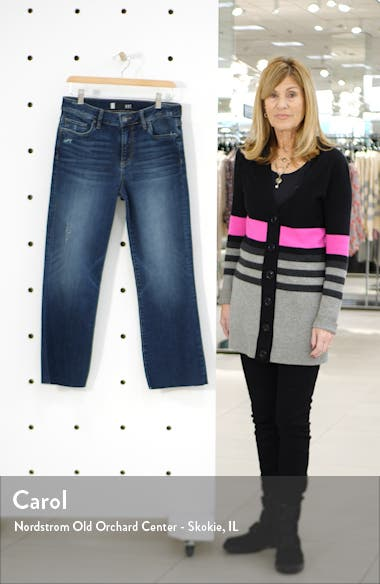 Kelsey Raw Hem Ankle Flare Jeans, sales video thumbnail